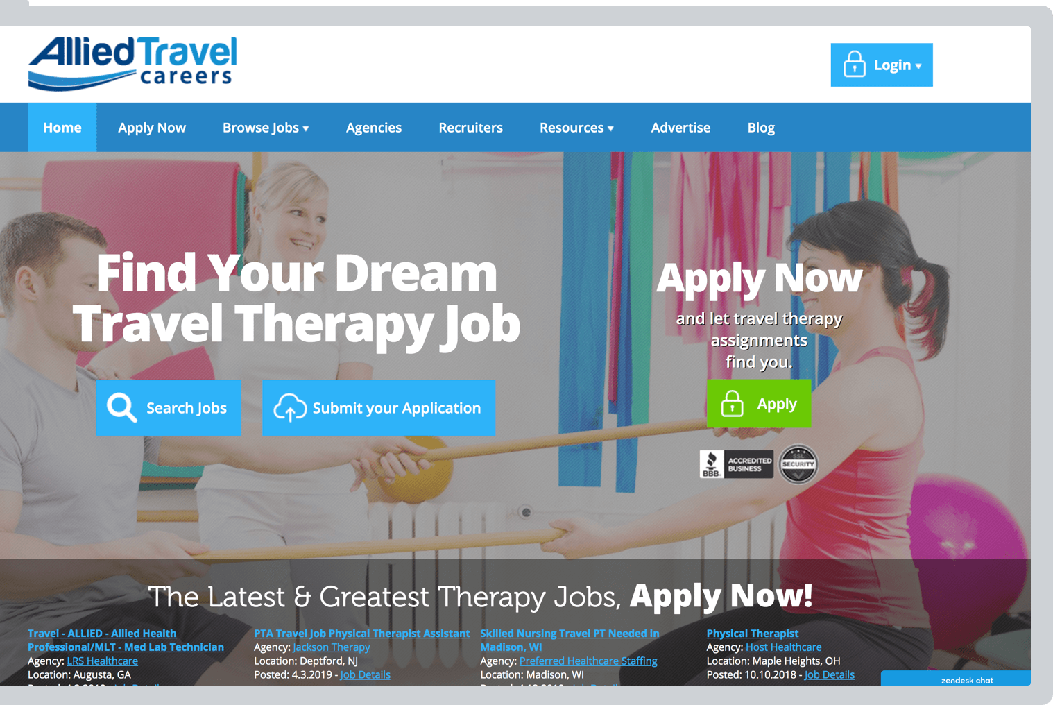 Allied Travel Careers website preview